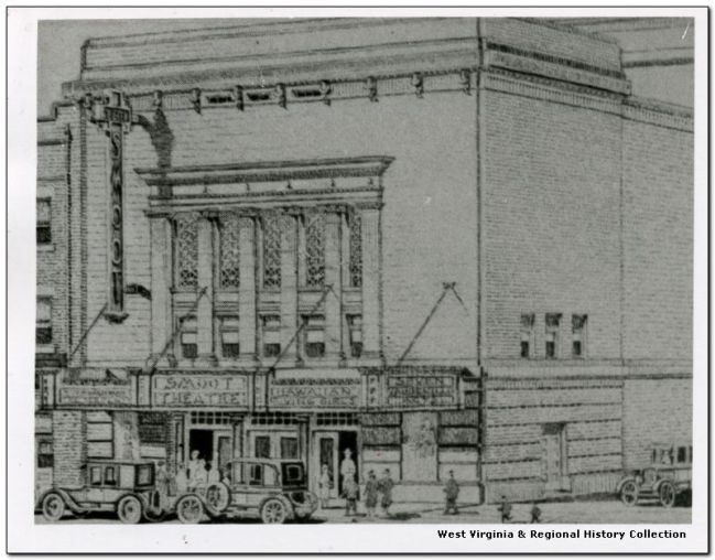 Historical rendering of the Smoot Theatre