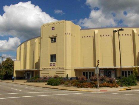 Exterior of the Municipal Auditorium